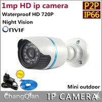 Hongwei ip camera 720p cctv  P2P onvif  Outdoor and  Indoor  Night Vision IR-CUT IP66  Waterproof  Security cameras