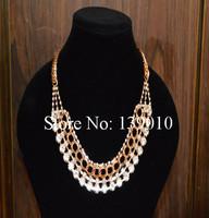 Free Shipping!3PCS/LOT!2014 Summer Multilayer Crystal Imitation Diamond Charm Necklace Pendant New Fashion Alloy Jewelry WJ-028