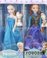With Original Box Frozen Doll 2pcs Set High Quality Elsa and Anna with Olaf  Frozen Princess Classic frozen doll Toys