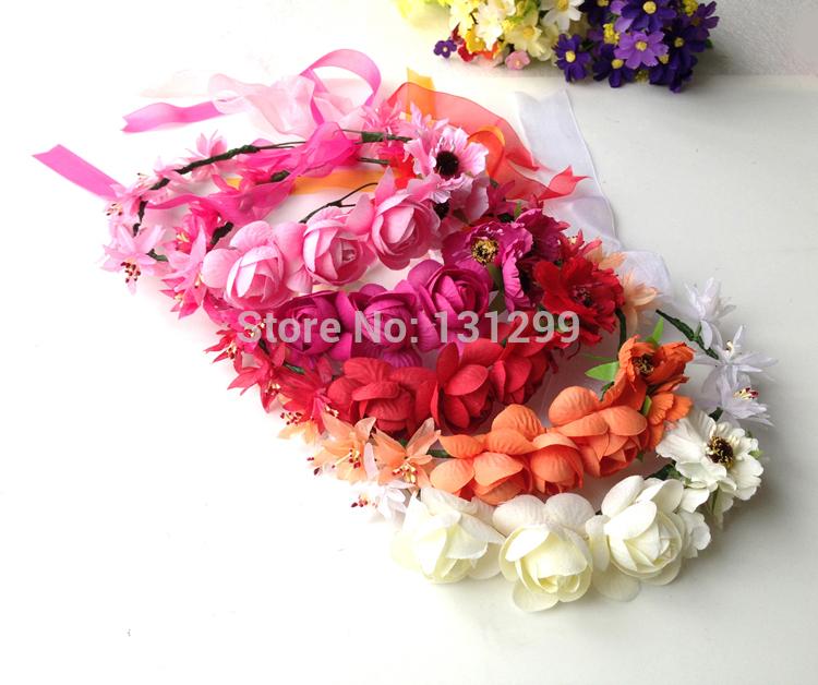 Head Wreath Name Flowers Head Wreath Bridal