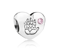 925 Sterling Silver Thread Core Baby Girl Charm Bead Fit European Jewelry Bracelets & Necklaces