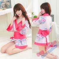 Free shipping lingerie sexy ladies pajamas Japanese kimono game uniform suits for women babydolls exotic dress body bodysuit