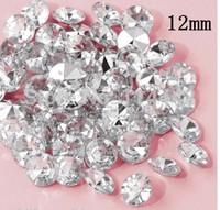 Free Shipping ! 1000 pcs / lot 12mm Silver Acrylic Diamond Table Scatter wedding confetti decoration