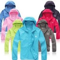 Free Shipping Outdoor Men Women Spring Summer Waterproof Climbing Skiing Mauntaineering Skin Raincoat Jacket Coat For Unisex