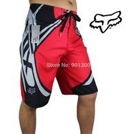 red quick dry fox boardshorts mens surf board shorts men beach short beachwear swim trucks trousers size 30 32 34 36 38