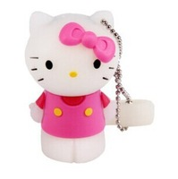 Lovely animal mini pen drive hello kitty gift pendrive 8gb 16gb 32gb cat Hello Kitty cartoon usb flash drive USB2.0 memory stick