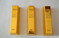 100sets Newest Gold Bar Power Bank 2600mah Portable Battery Charger for iPhone & Mobile Phone MP4 MP4 with retail box