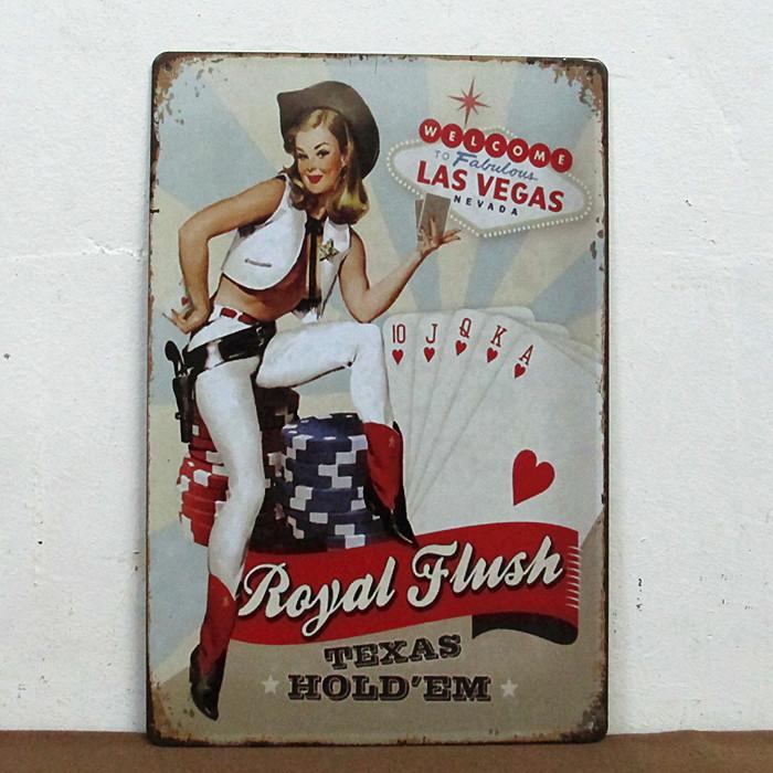 Christmas decor Texas hold'em Retro Metal Plaque Poster Wall Decor Painting Vintage Bar Tin Signs G-62 Mix Items 20*30 CM(China (Mainland))