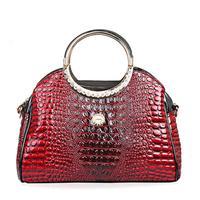 Luxury bags handbags women famous brands  designer handbags faux crocodile messenger bags desigual bolsos solid tote bag