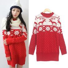 popular red sweater dress