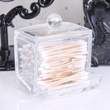 Storage Box Clear Acrylic Q-tip Holder Box Cotton Swabs Stick Storage Cosmetic Makeup(China (Mainland))