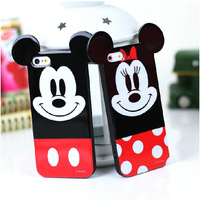 New arrival  Fashional Cute cartoon Mickey Mouse  TPU material cover case foriphone 5 5S 5G--Free shipping