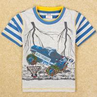cartoon shirts Nova boys brand navy 18m/6y tunic top  t-shirt with embroidery summer boy short sleeve kids wear boy C4851#