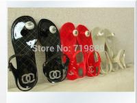 2015 Hot ! Free shipping , flat mushroom head jelly shoes flip sandals women sandals