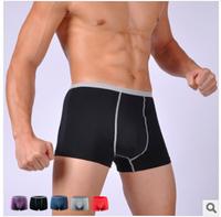 Top Fasion Men boxers Boy Modal Cotton Brand Sexy Underwear Men's Boxer Man Pants Male Underwears DK8762 (purple)
