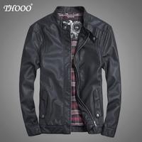 NEW THOOO Brand coat Faux Leather ew HOT GENTLEMEN'S classic fashion Slim Wholesale   pu leather motorcycle jacket tm09021
