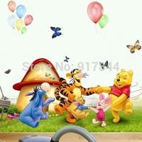 AY206 Free Shipping New  Popular Children's room wall cartoon Winnie the Pooh Wall Sticker Wall Mural Home Decor Room Kids