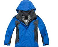 2014 Hot sale New brand three layer Children winter ski sport jacket/kids hoodie casual coat waterproof kids outdoor jacket
