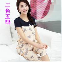 Drop shipping!2014 Summer Printing leisure suit Harem Pants Slim chiffon jumpsuit