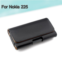 1pcs Free Shipping Mobile Phone Bag Holster Belt Clip Flip Leather Case Cover Pouch For Nokia 225 Dual SIM / 225