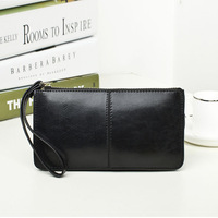 2014 women's genuine leather long design day clutch oil cowhide clutch wallet bag handbag
