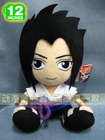 "Free shipment 12"" sitting Naruto Sasuke Uchiha Plush Doll Toys  Stuffed Anime Gift"