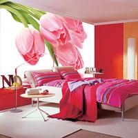 Flowers large mural bedroom living room TV sofa background 3d  tulip wallpaper Wallpaper
