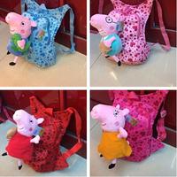 8pieces/lot  wholesales cartoon animal peppa pig kindergarten bag nursery school back pack bag for children kids boy pepa bag