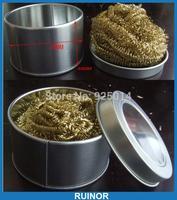 Metal TOP IRON MOUTH CLEANER Soldering Iron Tip Cleaner + Solder Brass Sponge