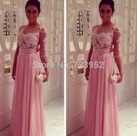 Sexy Sheer Illusion Back Chiffon Skirts Long Evening Dresses Party Dress Elegant Gowns Saias Femininas 2014 Vestidos De Fiesta