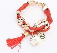 YXSP4544     2014 new fashion   Simple four-leaf pearl    Bracelets for women