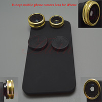 Telescope 0.67 X Wide Angle Len Mobile Phone Lens and Fish EYE LENS 180 degrees with Mobile phone shell for iPhone Free Shipping