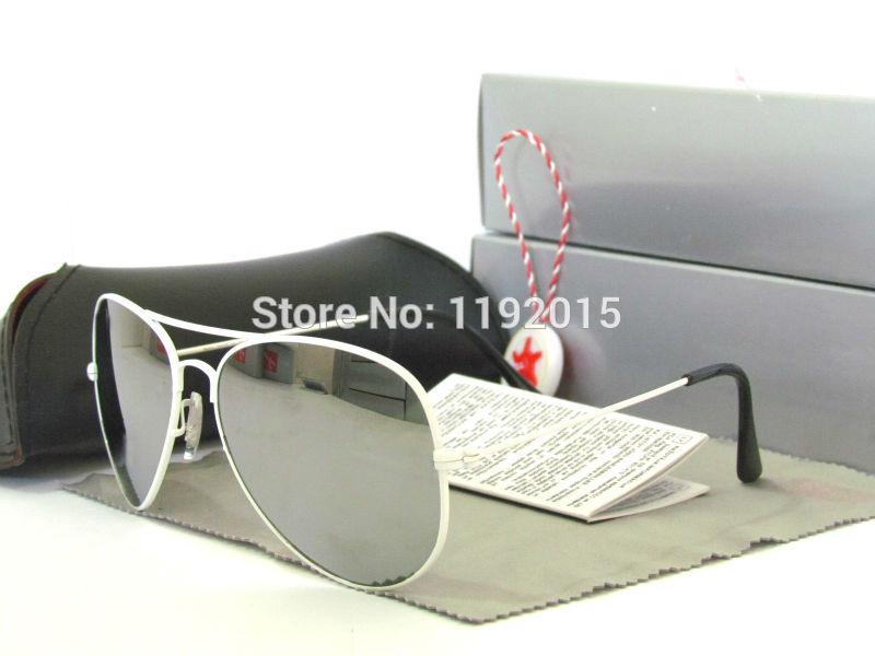2530-A2 Men Women White metal frame Silver reflective mirror lens Sunglasses oculos gafas de sol feminino Eyewear Eyeglasses(China (Mainland))