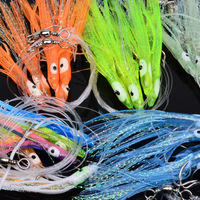 5set-25pc sleeve-fish Sabiki Hook Top Quality Fishing Lure Soft octopus Lure 12# Hook 1.6M Main Length fishing tackle Soft Bait