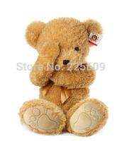 Freeshipping sitting height 30cm footprints shy bear Teddy bear plush toy bear authentic baby doll A birthday present