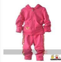 2014 new children's clothing Children's fashion baby cotton zipper sweater  Sport Package  Children Set  Fashion Set