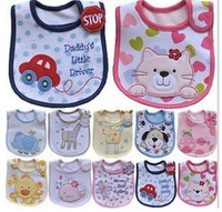 Wholesale Baby Girl Boy Towel Saliva Waterproof New Kids Lovely Pattern 3 Layer Toddler Lunch Bibs cotton Burp Cloths
