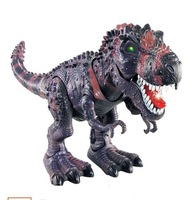 Model toy tyrannosaurs rex electric animal battery operated flash eye Assemble for child kids dinosaur with retail package