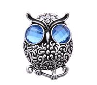 New top quality thiland silver plated blue crystal rhinestone vintage owl animal brand fashion brooch (Viennois VB00049)