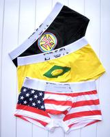 High Quality Mens Underwear Sport Men's Boxers Trunk American flag men boxer shorts 100% cotton Men Clothing Free shipping