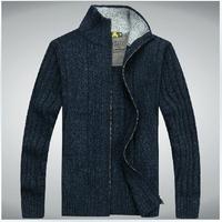 2014 New Hot Fashion Men'S Qigh Quality Cardigan Wool Sweater  Man Casual Knitted Sweater Coat  Men Brand Sweater Coat XG50-07