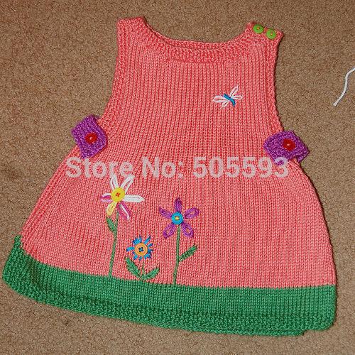 Baby Girl Dresses Handmade Handmade Knitting Baby Dress
