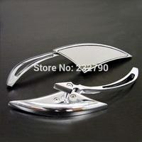 Chrome Motorcycle Aluminum Blade Spear Side Mirrors for Harley Motorbike Cruiser Chopper XL883 #3273*2