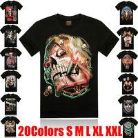 Men 3D Print T-Shirt 2014 Male Fashion Short Sleeve Printed t shirt Man Slim O-Neck New Sports Tee Shirts Clothes Plus size