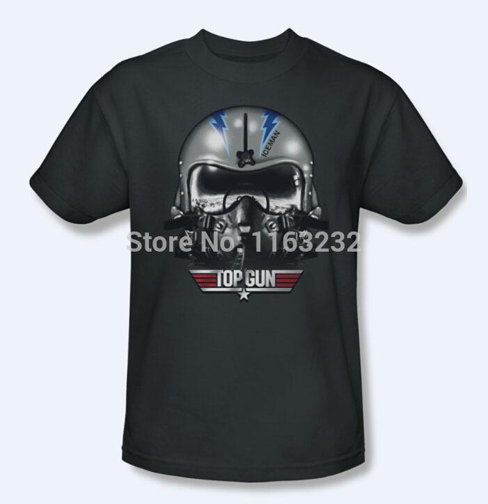 Top Gun Movie Iceman T-Shirt Men's Short-sleeve Custom T-shirt New 2014 Size S-3XL 100% Cotton Hot Sale(China (Mainland))