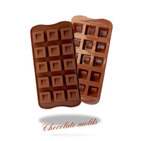 Fondant cake tool 13 hole square shape silicone mold styling tools bakeware DIY cupcake chocolate mould