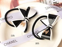 HB001 Acrylic material three-dimensional bowknot rose-gold logo fashion hairband hair rope