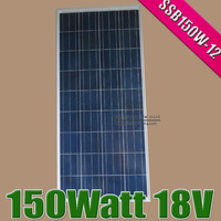 2PCS X 150W 12V Solar Panel Poly Crystalline solar DIY system,150Watt poly solar cell battery PV module