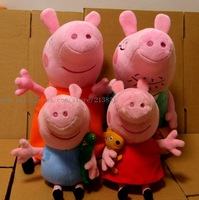 Small size 25cm toys peppa pig family 4 pcs/lot ,peppa pig party decorations,Cheap handmade familia peppa pelucia plush handmade
