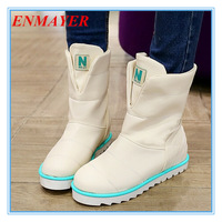 ENMAYER new 2014 autumn and winter thermal Ankle slip-resistant snow Fashion Boots for Women Casual women boots